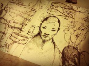 An art piece on paper: Soie byTishina