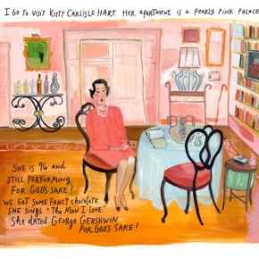 Maira Kalman illustrates herself. A talk with an imaginative mind